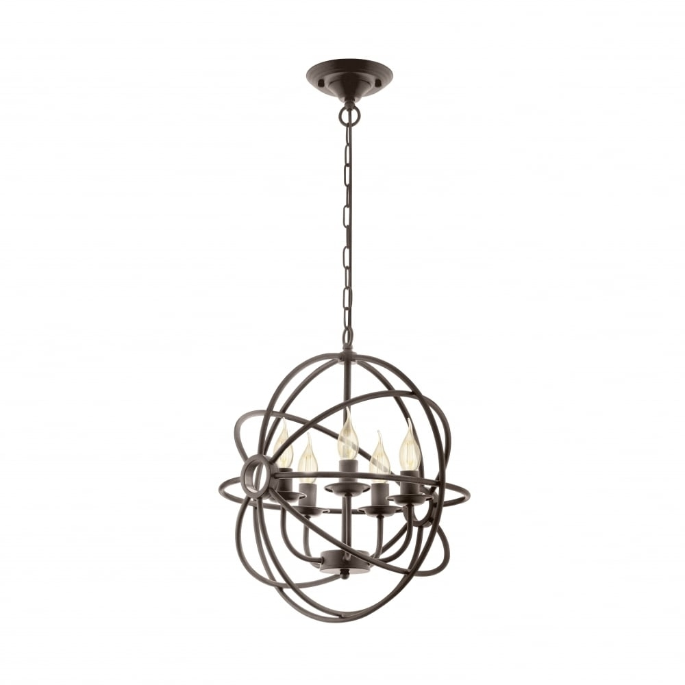 Eglo 49773 Ebrington 5 Bulb Rustic Caged Chandelier (View 20 of 20)