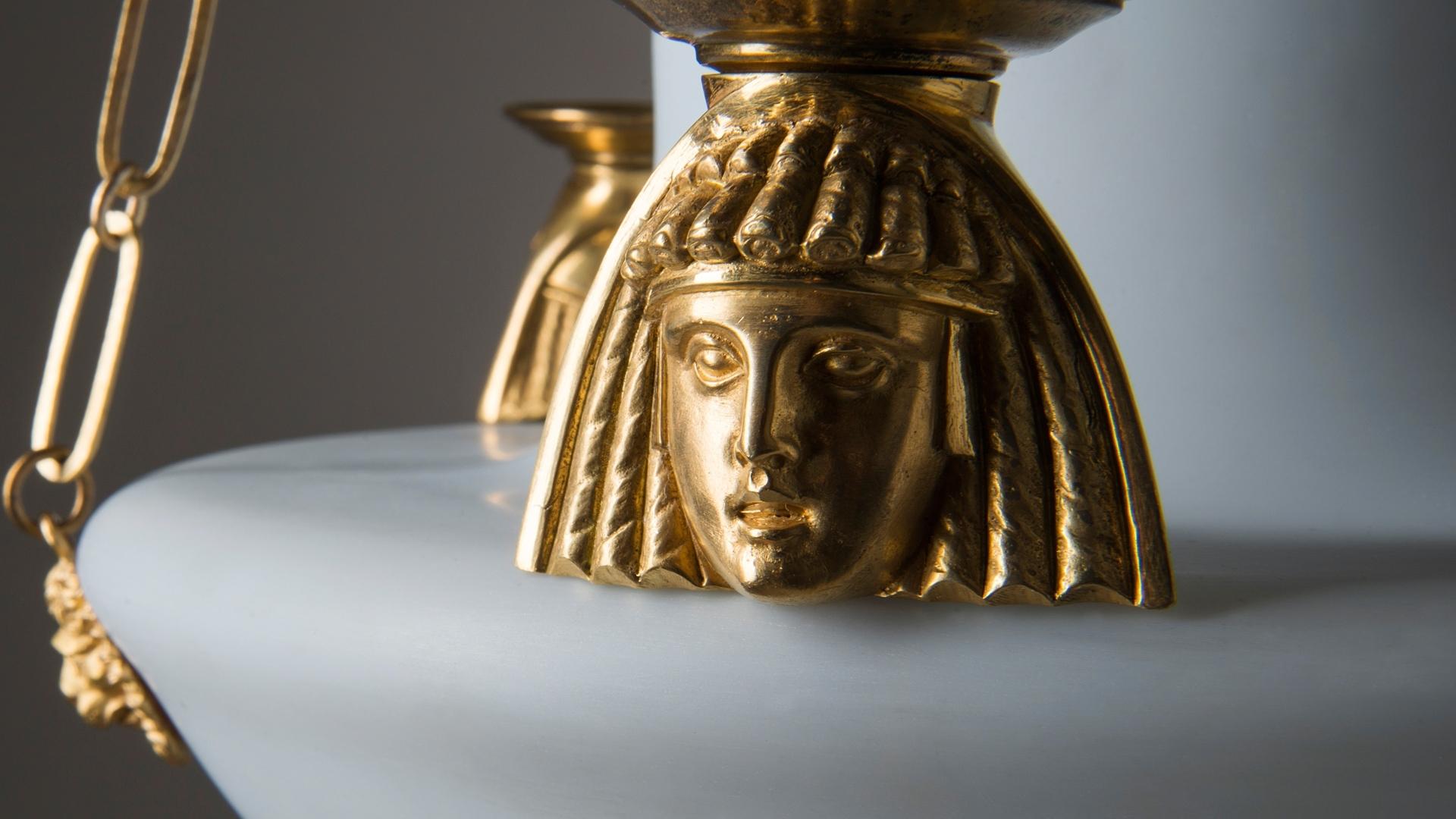 Egyptian Chandelier Intended For Favorite Chandelier In Egyptian Taste Circa 1800 Hoffmans Antikhandel (View 16 of 20)