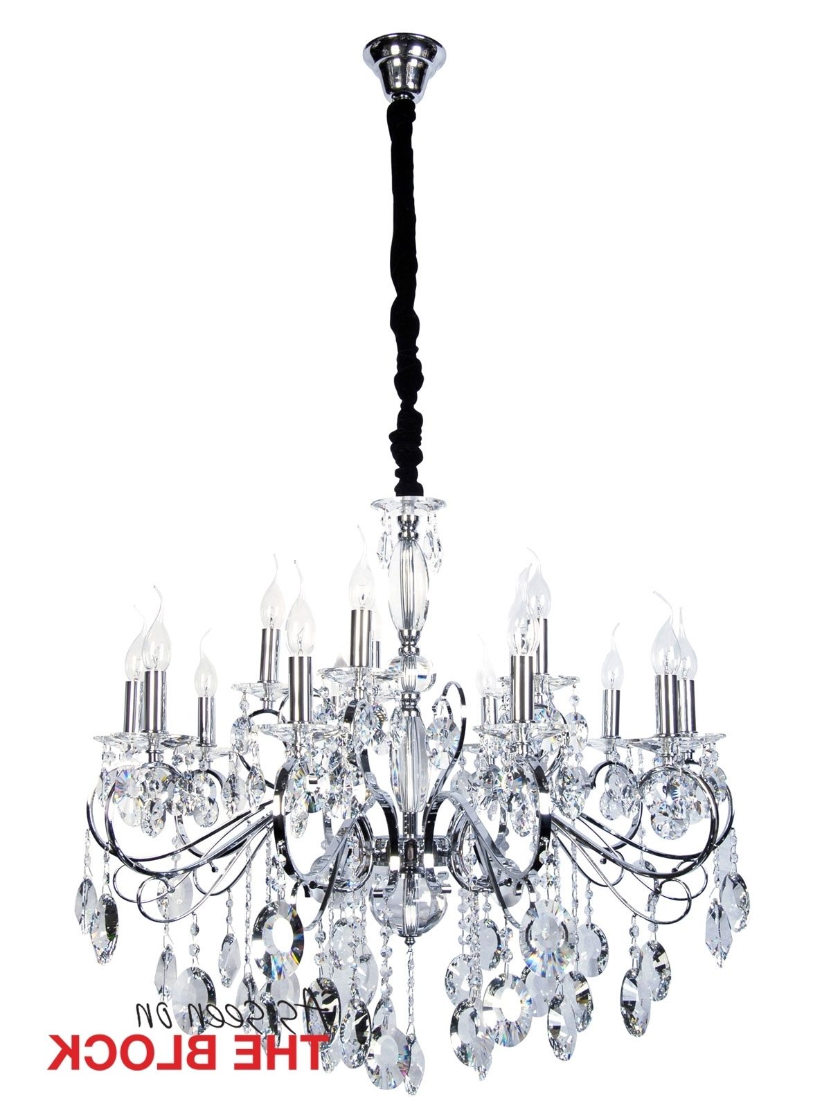 Egyptian Crystal Chandelier For Favorite Madeleine 15 Light Egyptian Crystal Chandelier In Chrome (View 4 of 20)