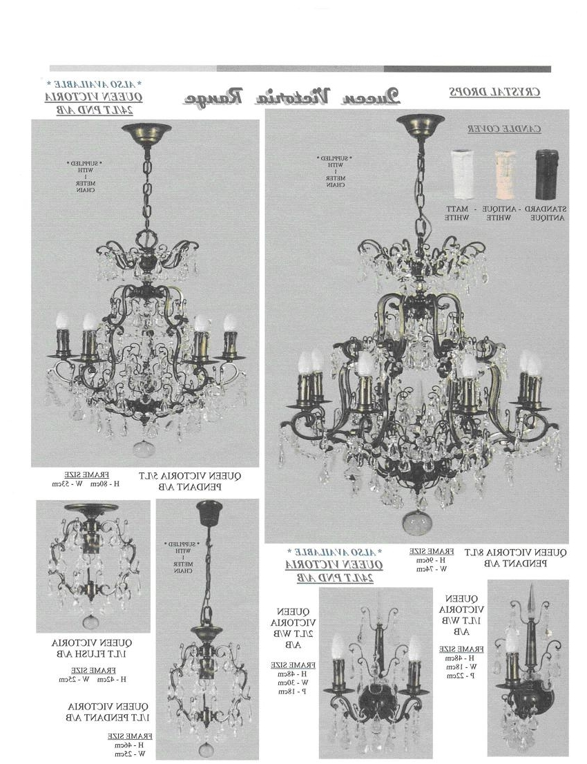 Egyptian Crystal Chandelier Inside Fashionable Buy Online Queen Victoria 8 Light Crystal Chandelier At Trade Prices (View 13 of 20)