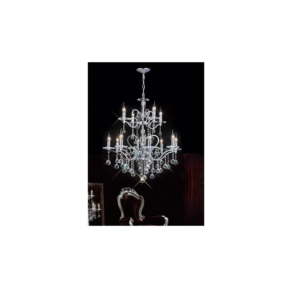 Egyptian Crystal Chandelier Within Most Recent Buy Large Lights Chrome Egyptian Lead Crystal Chandelier (View 16 of 20)