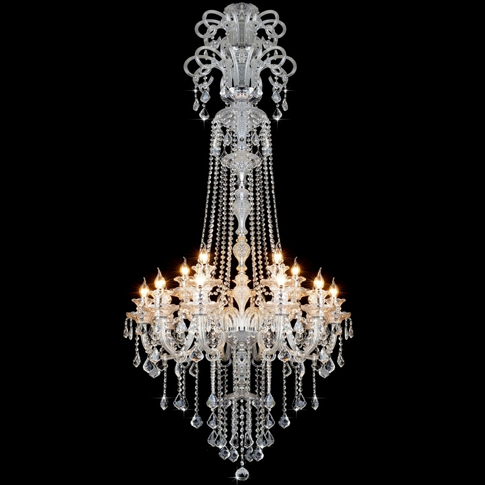 Elegant Crystal Chandelier Modern Large Crystal Chandelier For Within Famous Large Modern Chandeliers (Gallery 18 of 20)