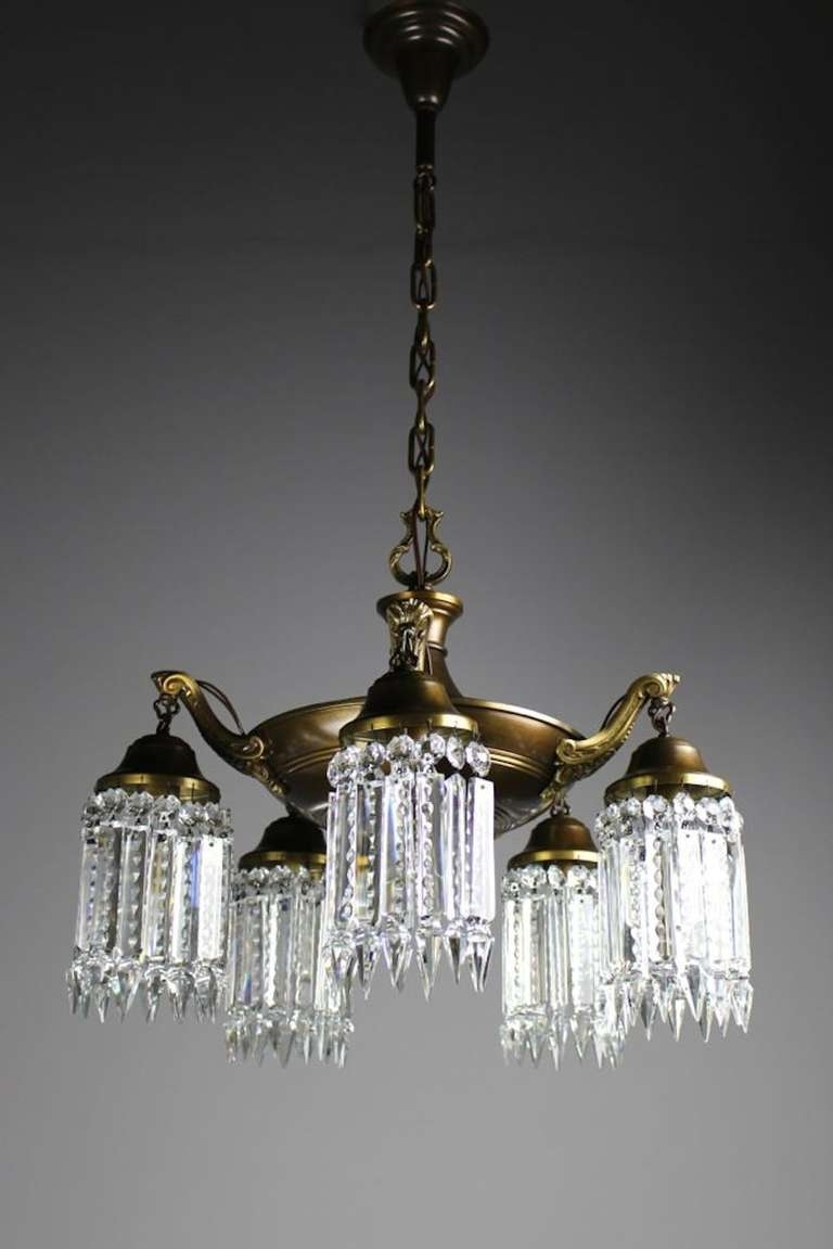 Elegant Edwardian Crystal Chandelier For Sale At 1Stdibs Inside Popular Edwardian Chandelier (Gallery 2 of 20)
