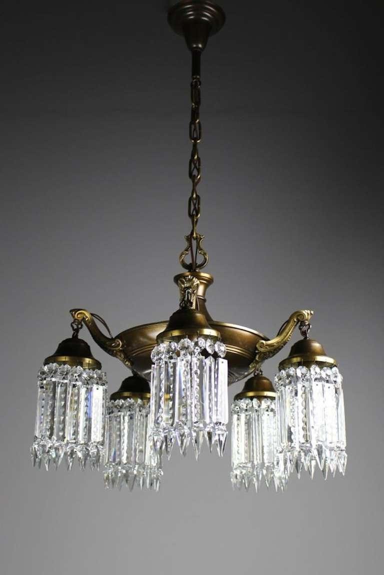 Elegant Edwardian Crystal Chandelier For Sale At 1stdibs Inside Popular Edwardian Chandelier (View 2 of 20)
