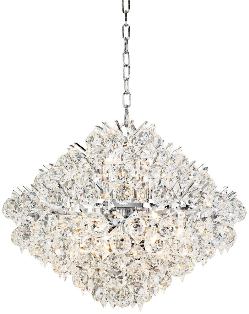 Elegant Unique Crystal Chandeliers Modern Silver Crystal Chandelier In Best And Newest Modern Silver Chandelier (Gallery 6 of 20)