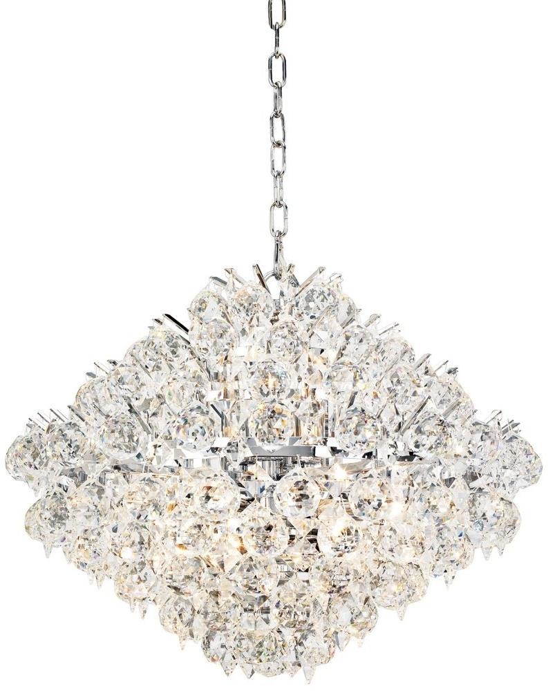 Elegant Unique Crystal Chandeliers Modern Silver Crystal Chandelier In Best And Newest Modern Silver Chandelier (View 6 of 20)
