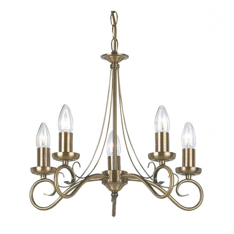 Endon Lighting Chandeliers With Latest Chandelier ~ Endon 180 5An 5 Light Chandelier In Antique Brass From (Gallery 7 of 20)