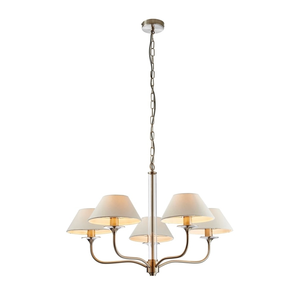 Endon Lighting Kingston 5 Light Ceiling Fitting In Satin Nickel Within Well Liked Endon Lighting Chandeliers (View 6 of 20)