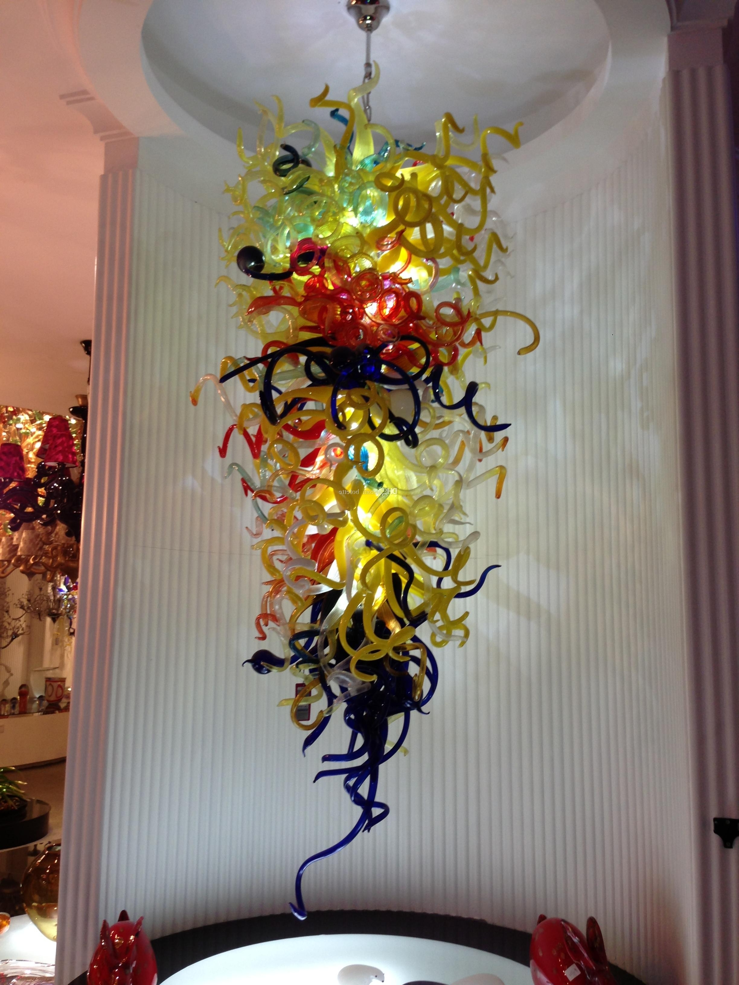 European Style Hanging Chihuly Chandeliers Western Pretty Amber In Well Known Chinese Chandeliers (View 11 of 20)