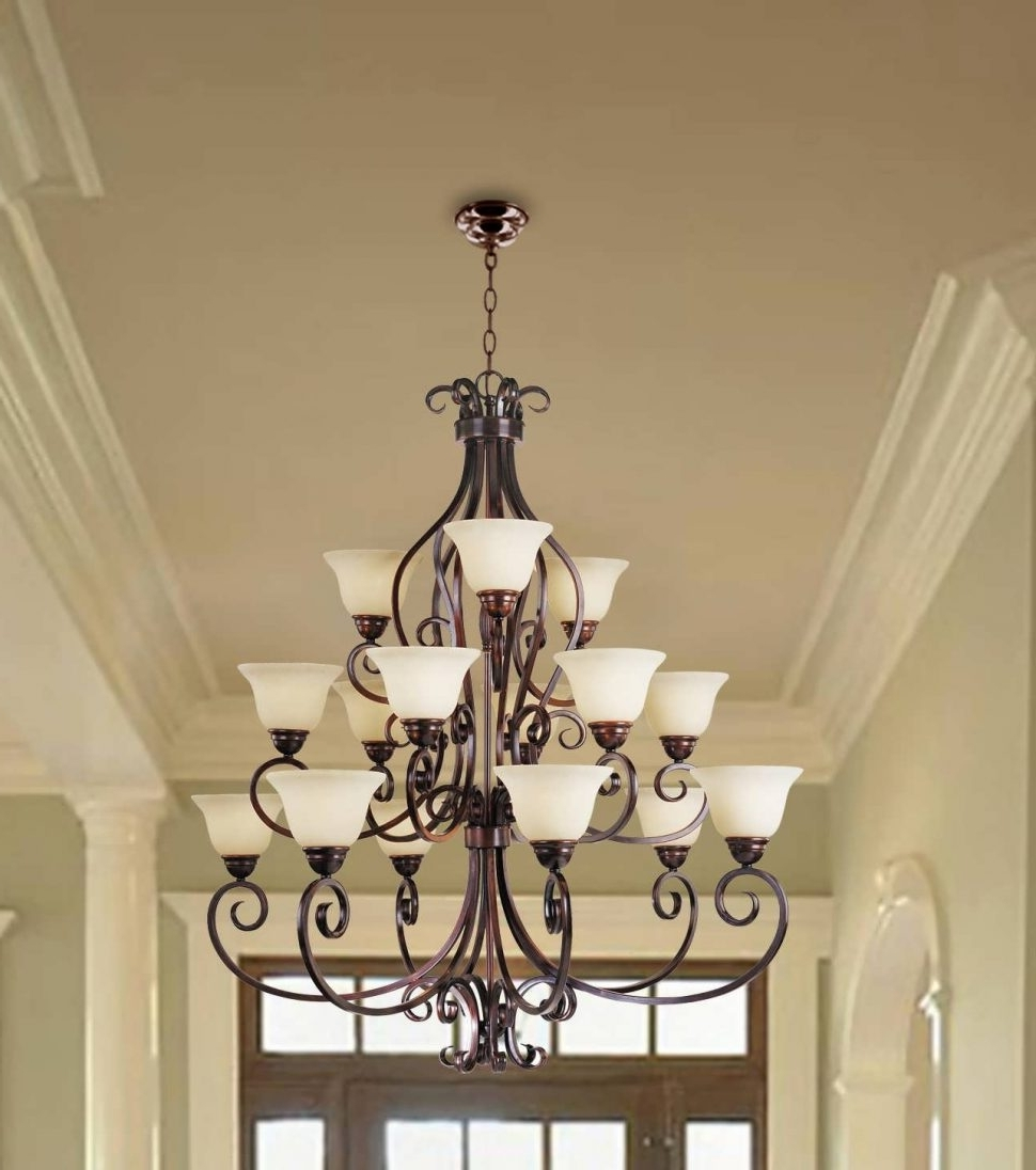 Extra Large Modern Chandeliers Pertaining To Latest Chandelier : Small Chandeliers Chandelier Lamp Modern Foyer (View 8 of 20)