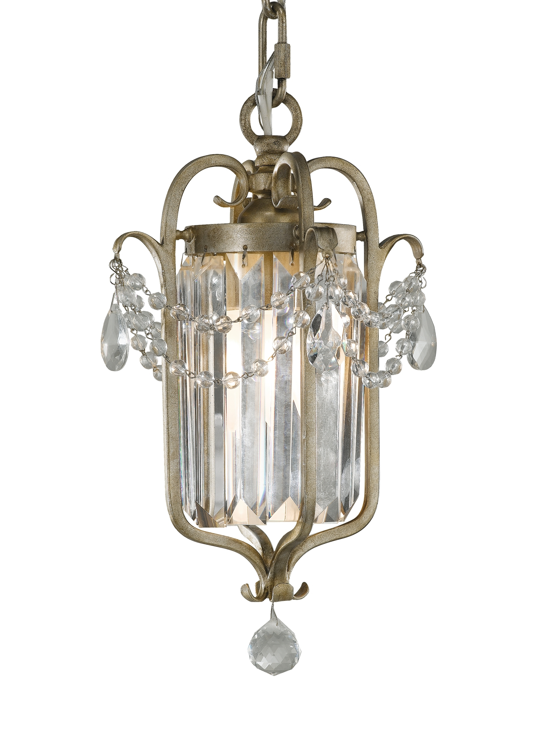 F2474/1Gs,1 – Light Mini Duo Chandelier,gilded Silver Regarding Trendy Gianna Mini Chandeliers (View 5 of 20)