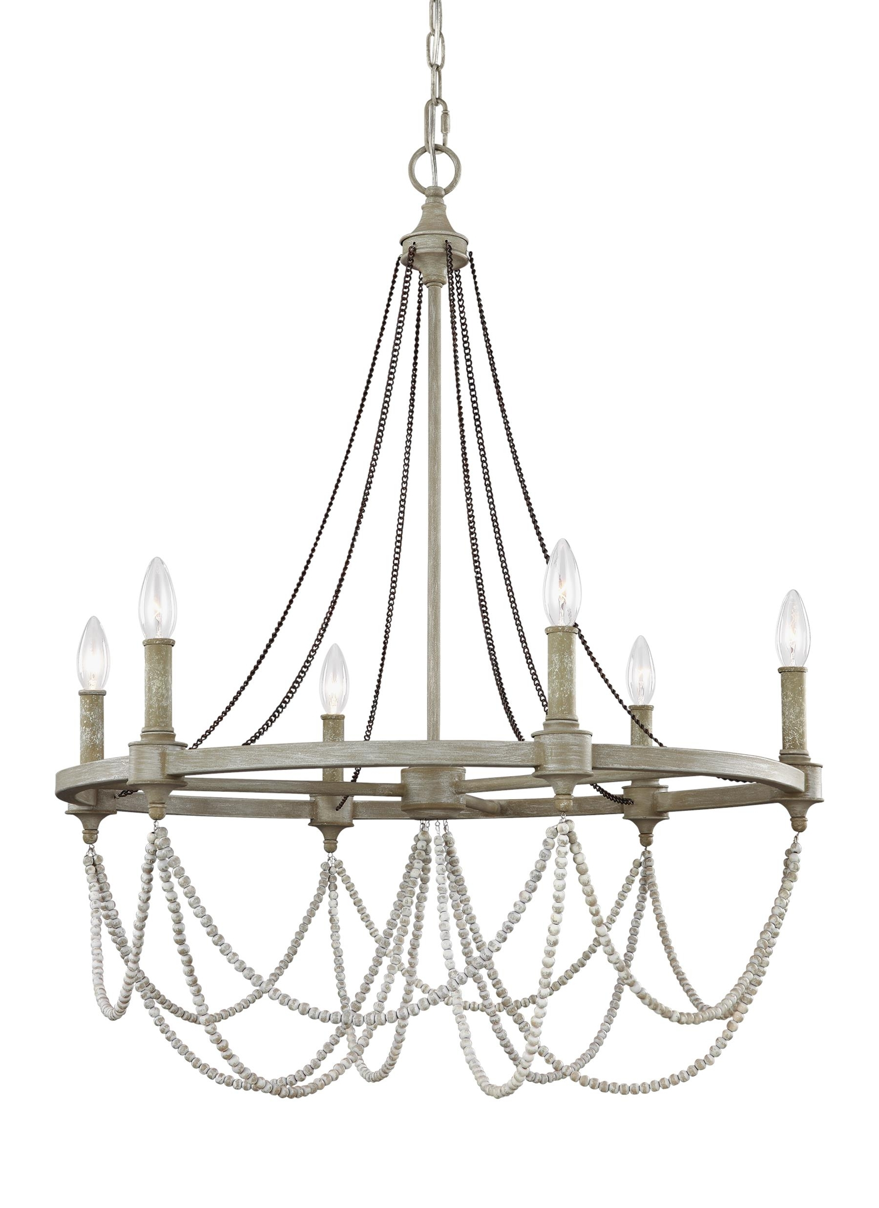 F3132/6Fwo/dww,6 – Light Chandelier,french Washed Oak / Distressed For Most Recently Released Feiss Chandeliers (View 3 of 20)