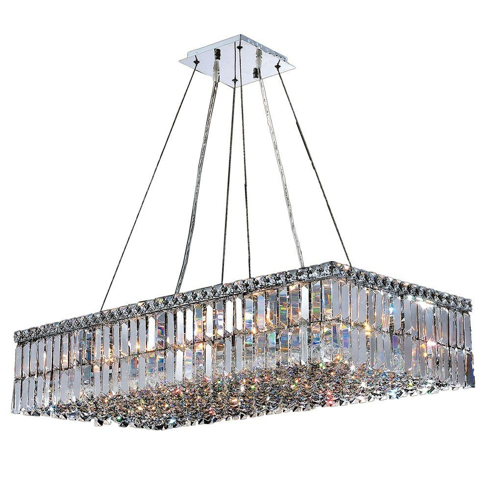 Famous Asian Chandeliers Throughout Home Design : Impressive Rectangular Crystal Chandelier Asian (View 9 of 20)