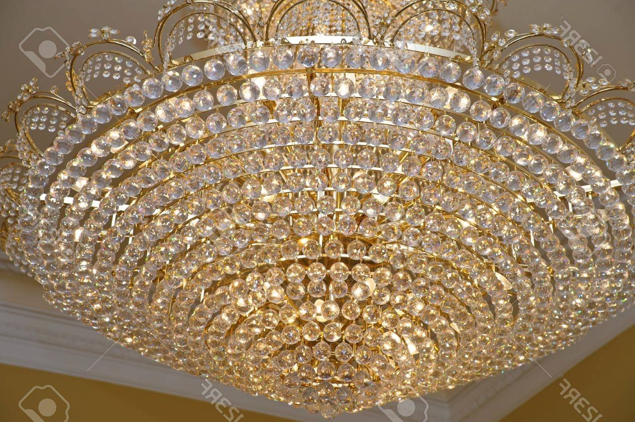 Famous Big Crystal Chandelier Within The Big Crystal Chandelier Stock Photo, Picture And Royalty Free (View 10 of 20)