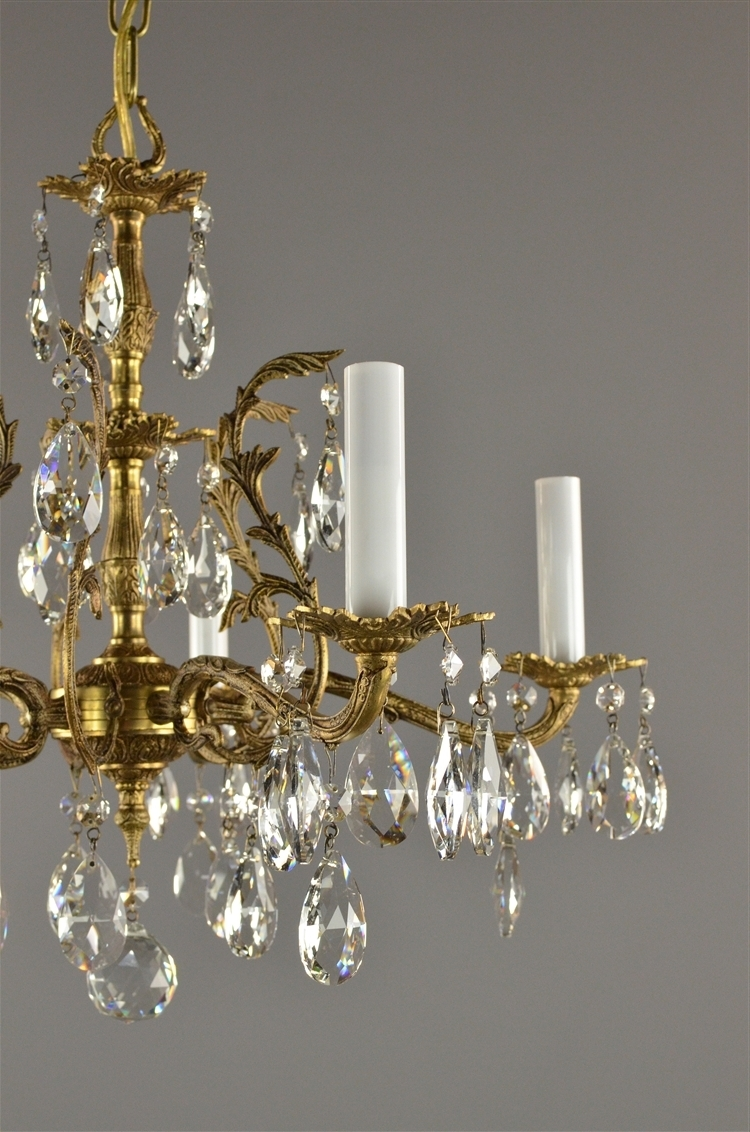 Famous Brass And Crystal Chandelier Throughout Spanish Brass & Crystal Chandelier C (View 20 of 20)
