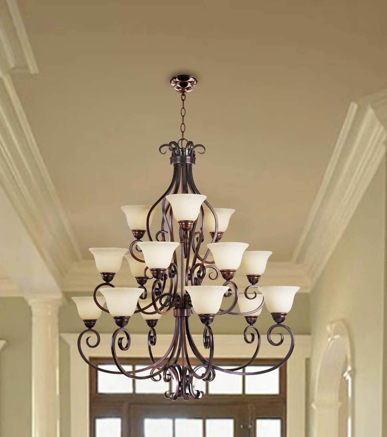 Famous Contemporary Large Chandeliers Pertaining To Chandeliers Design : Amazing Large Crystal Chandelier Extra (View 15 of 20)