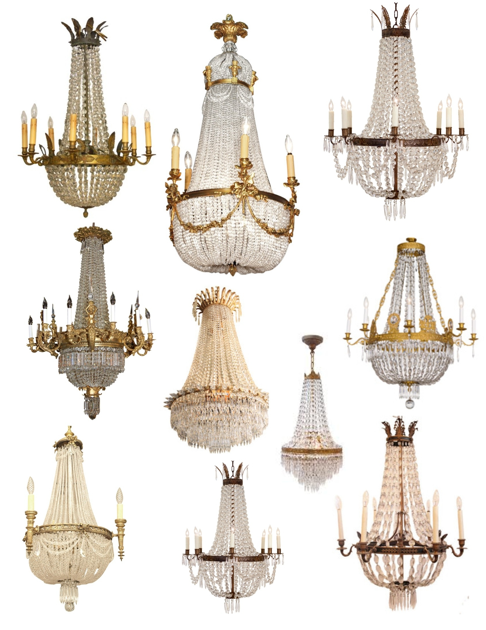 """Famous Crowned"""" Magnificence: The French Empire Crystal Chandelier (View 5 of 20)"""