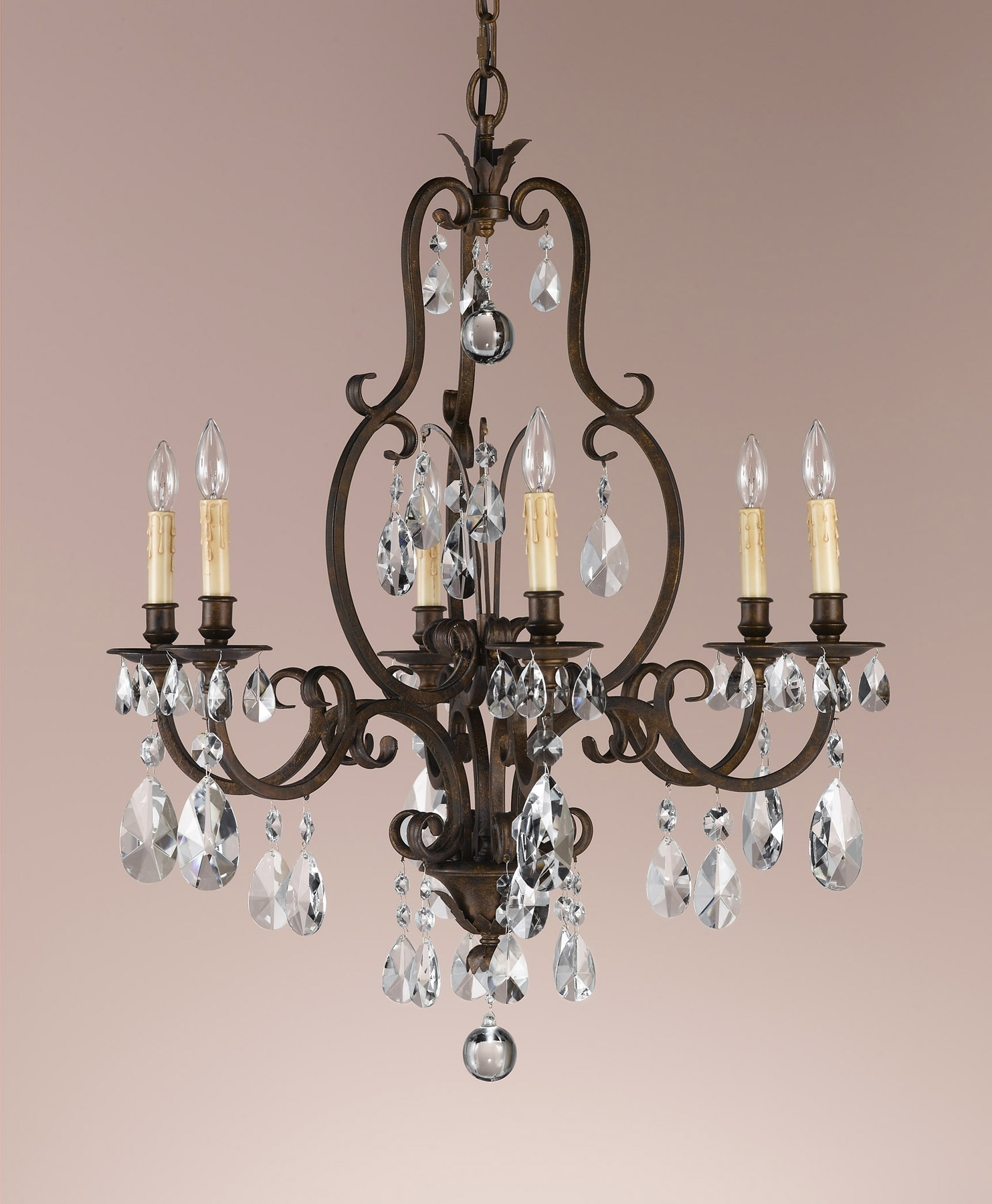 Famous Feiss F2228/6ats Crystal Salon Maison Six Light Chandelier Throughout Feiss Chandeliers (View 5 of 20)
