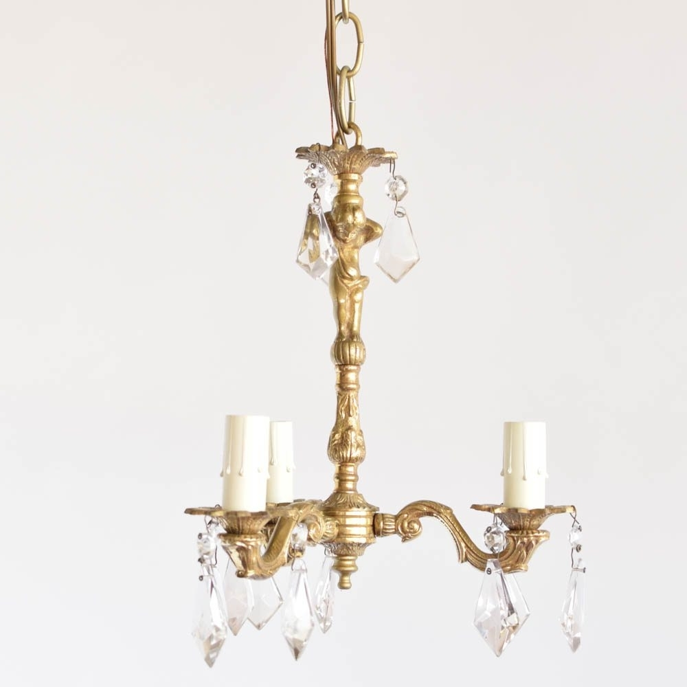 Famous French Chandeliers In Pair Of Small Bronze Chandeliers – The Big Chandelier (View 19 of 20)