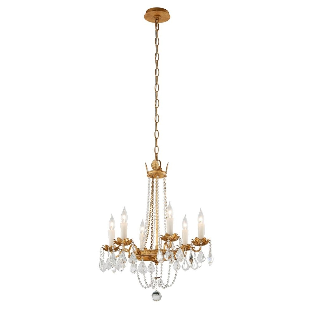 Famous Gold Leaf Chandelier Within Troy Lighting Viola 5 Light Distressed Gold Leaf Chandelier F (View 3 of 20)