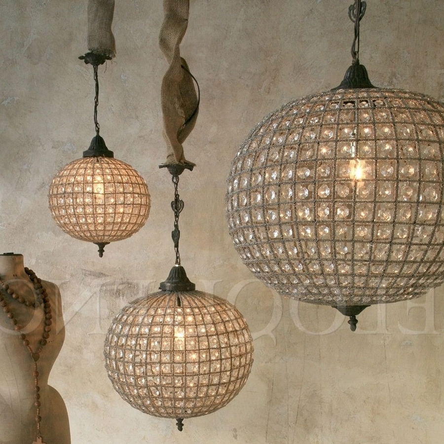 Famous Lighting – Chandeliers – Eloquence Large Globe Chandelier – Cottage Throughout Eloquence Globe Chandelier (View 13 of 20)
