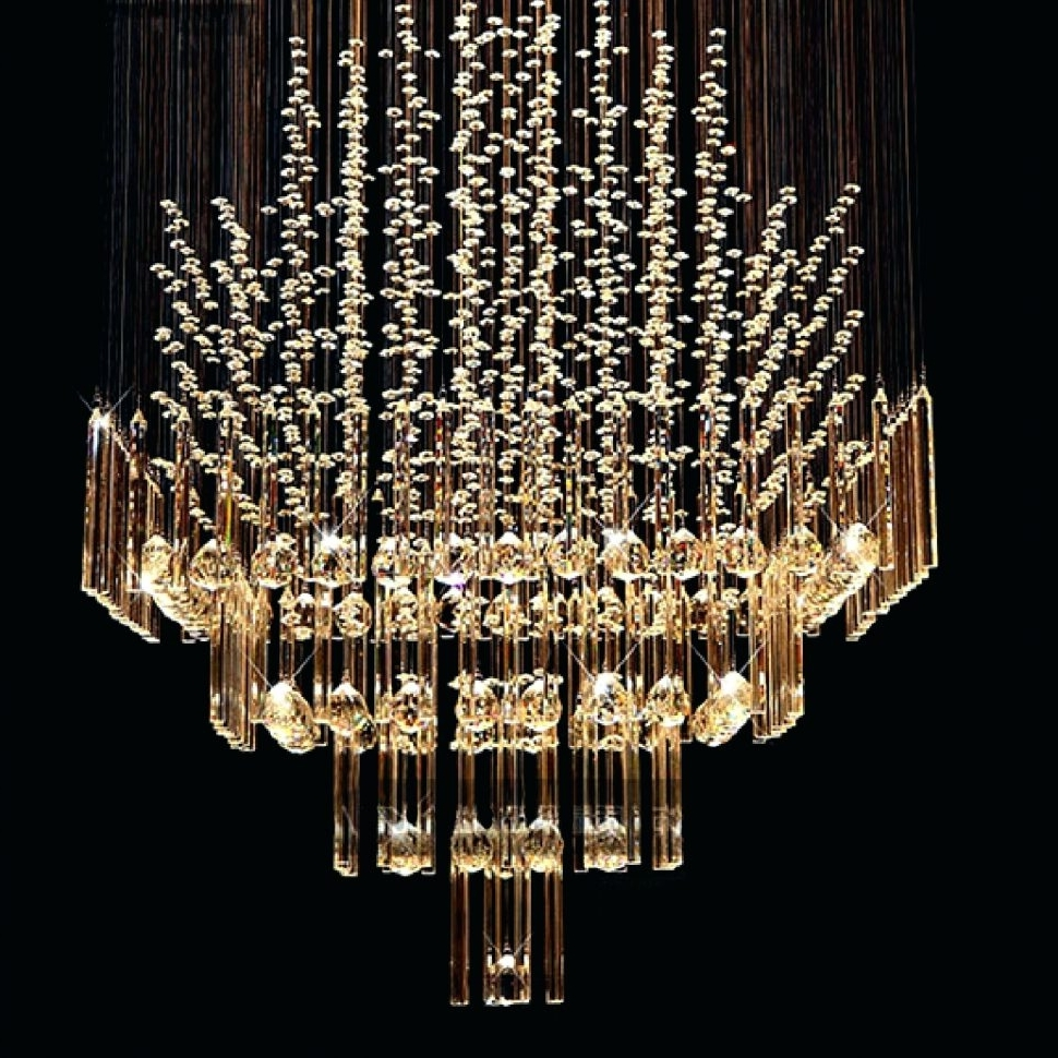 Famous Long Hanging Chandeliers Regarding Chandeliers Design : Awesome Long Drop Crystal Chandelier Hanging (View 6 of 20)