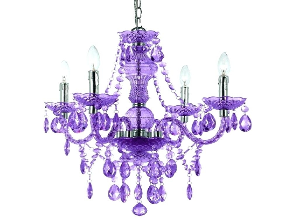 Famous Purple Crystal Chandeliers In Purple Crystal Chandelier Parts 8 Silver Leaf With Elements (View 5 of 20)