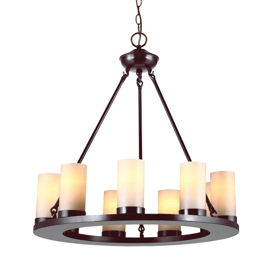 Famous Shop Sea Gull Lighting Ellington 27 In 9 Light Burnt Sienna Rustic Intended For Candle Chandelier (View 9 of 20)
