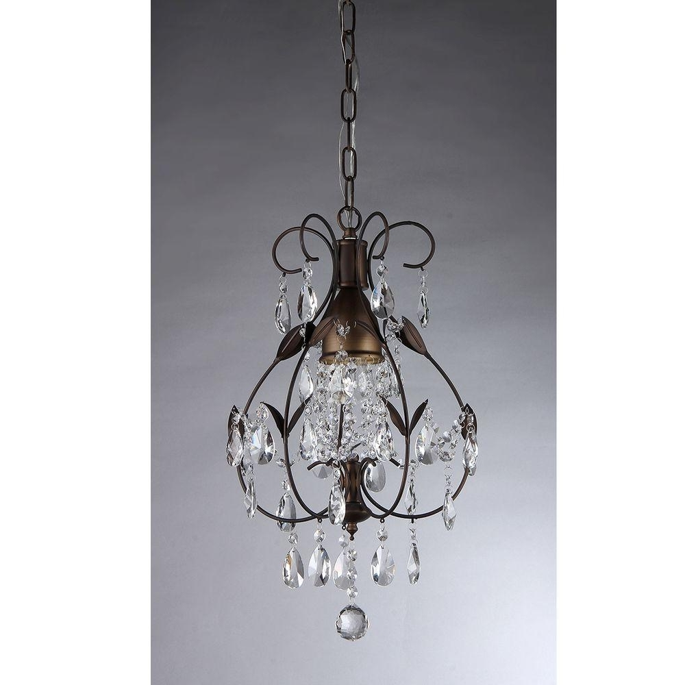 Famous Small Bronze Chandelier For Warehouse Of Tiffany Maleficent 1 Light Antique Bronze Chandelier (View 7 of 20)