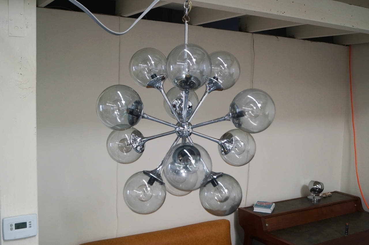 Famous Vintage Chrome Sputnik Chandelier At 1Stdibs Pertaining To Chrome Sputnik Chandeliers (View 7 of 20)