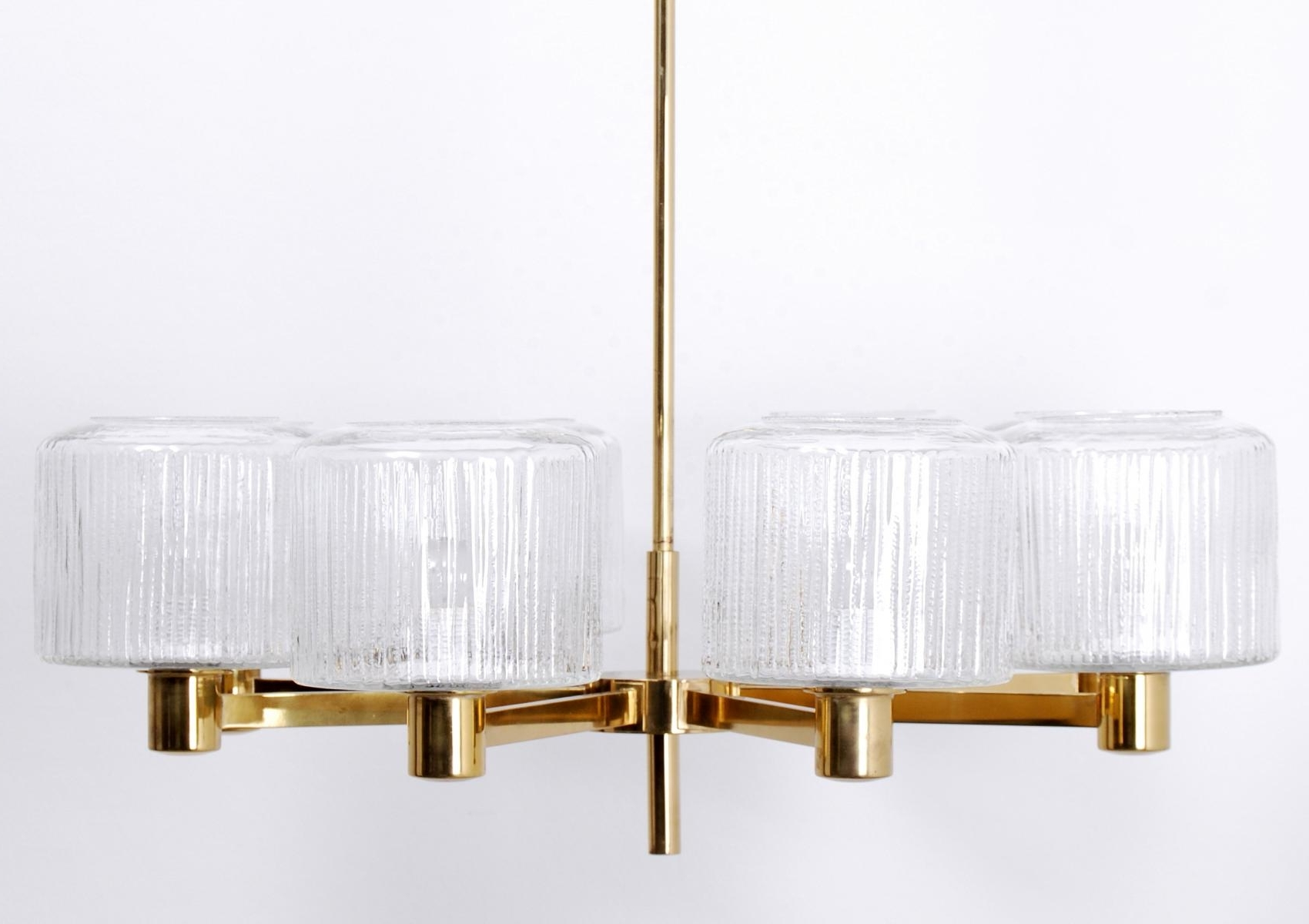Famous Vintage Large Scandinavian Chandelier In Brass For Sale At Pamono Inside Scandinavian Chandeliers (View 12 of 20)