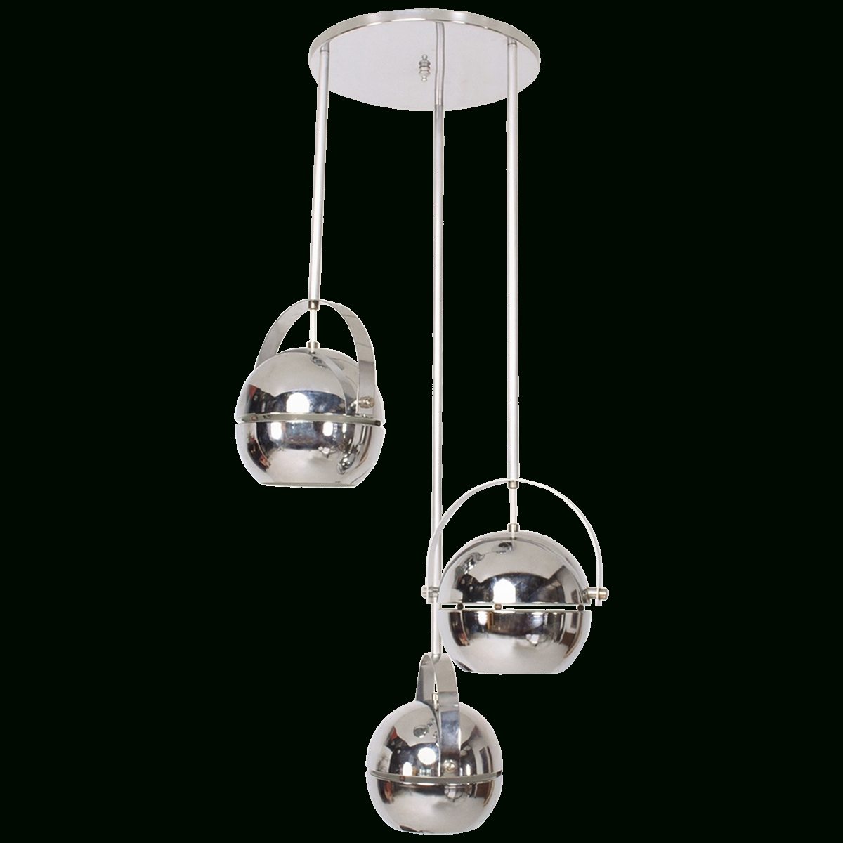 Famous Viyet – Designer Furniture – Lighting – Mid Century Modern Chrome Pertaining To Modern Chrome Chandelier (View 9 of 20)