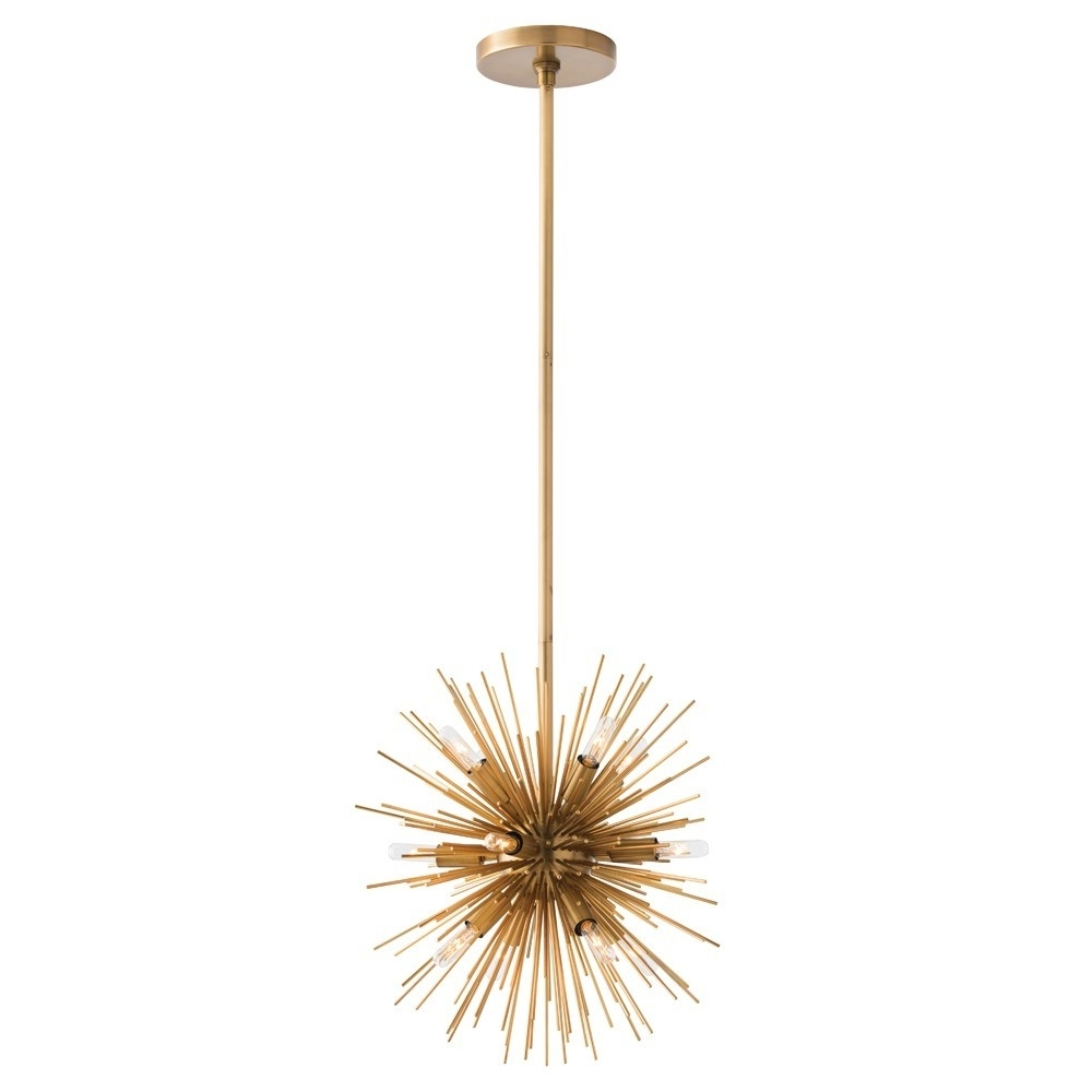 Fashionable Arteriors Mini Zanadoo Chandelier – Brass (View 9 of 20)