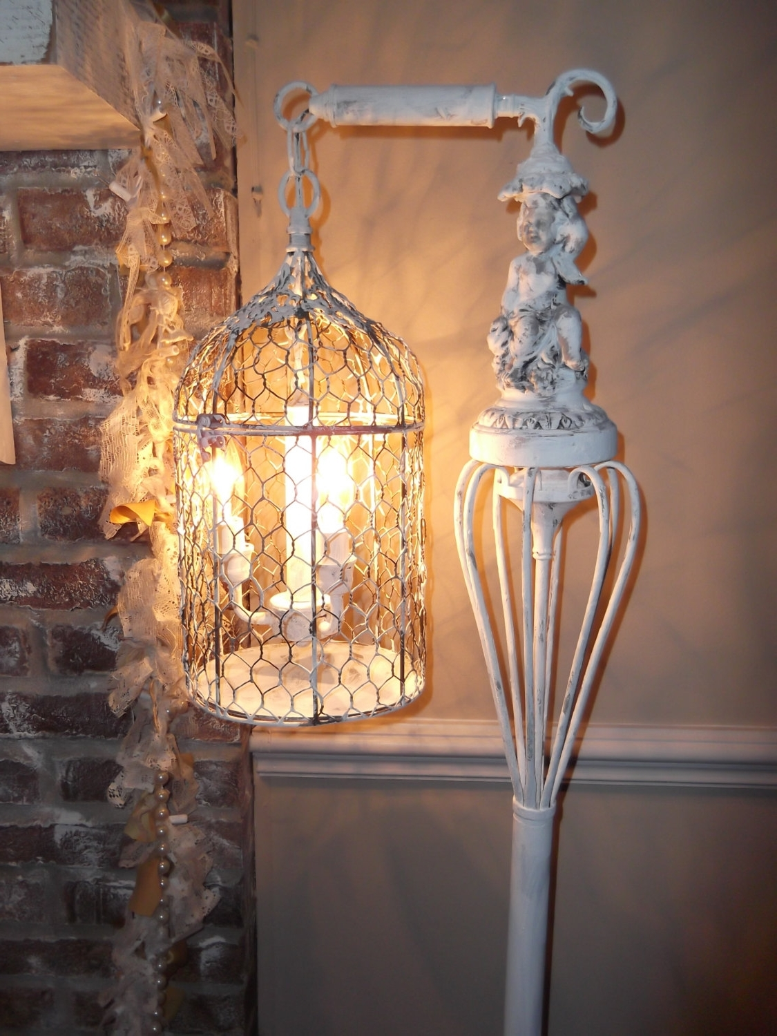 Fashionable Country Chic Chandelier Inside Bird Cage Chandelier Floor Lamp ,vintage Chandelier Bird Cage Light (View 13 of 20)
