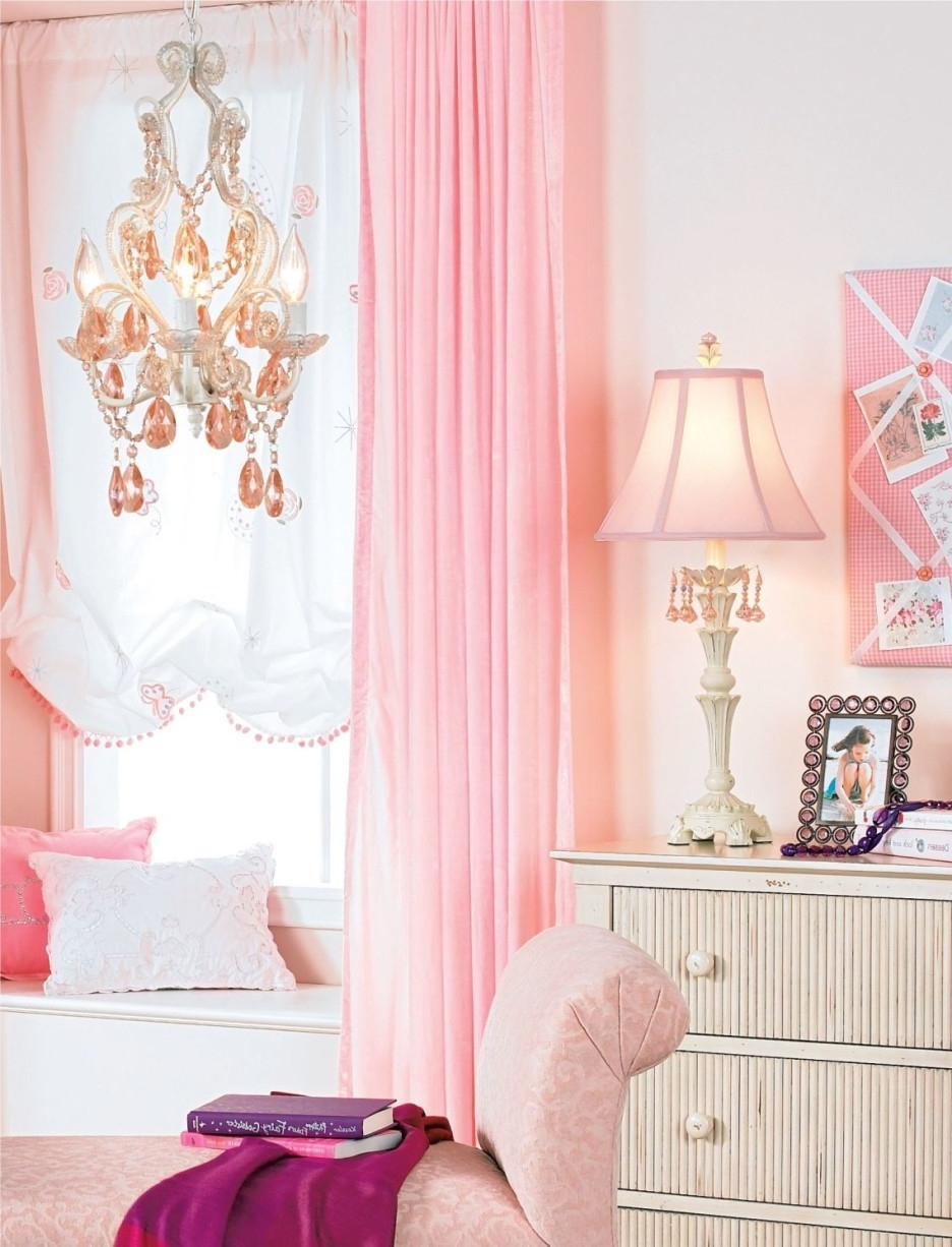 Fashionable Crystal Chandeliers For Baby Girl Room Intended For Baby Nursery Luxury Pink Baby Nursery Room Decoration With Pink (View 9 of 20)