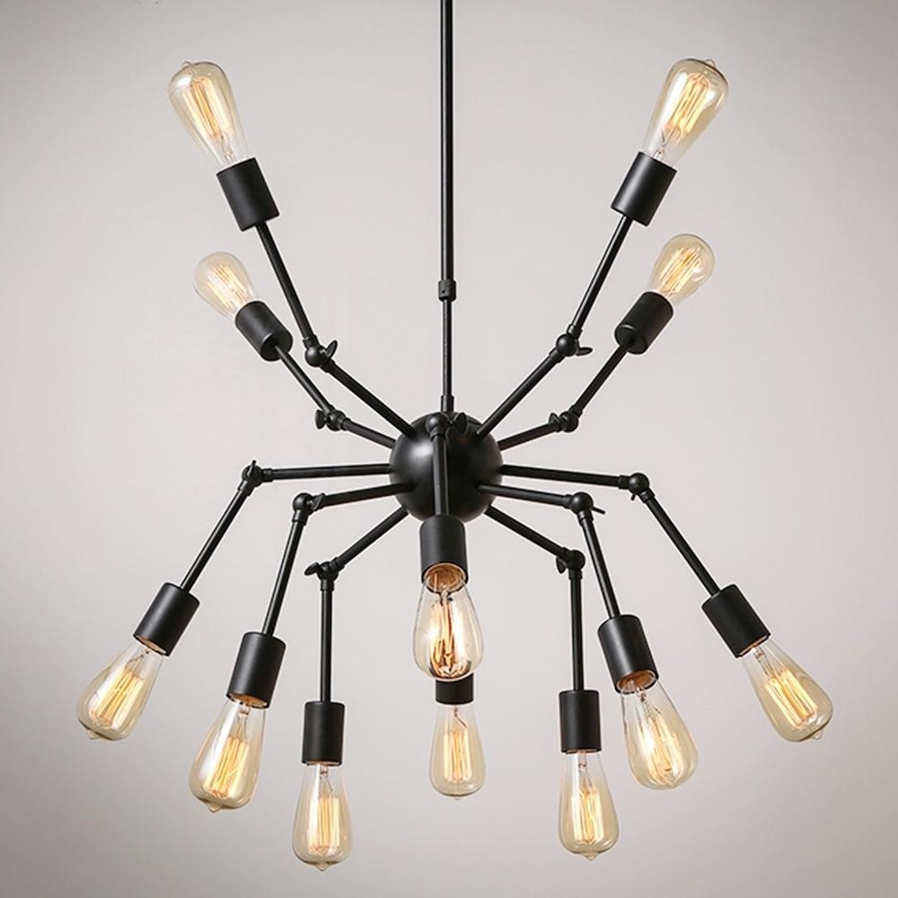 Fashionable Ecolight Novelty Chandelier Light Vintage Black White Spider Shaped Inside Metal Chandeliers (View 18 of 20)