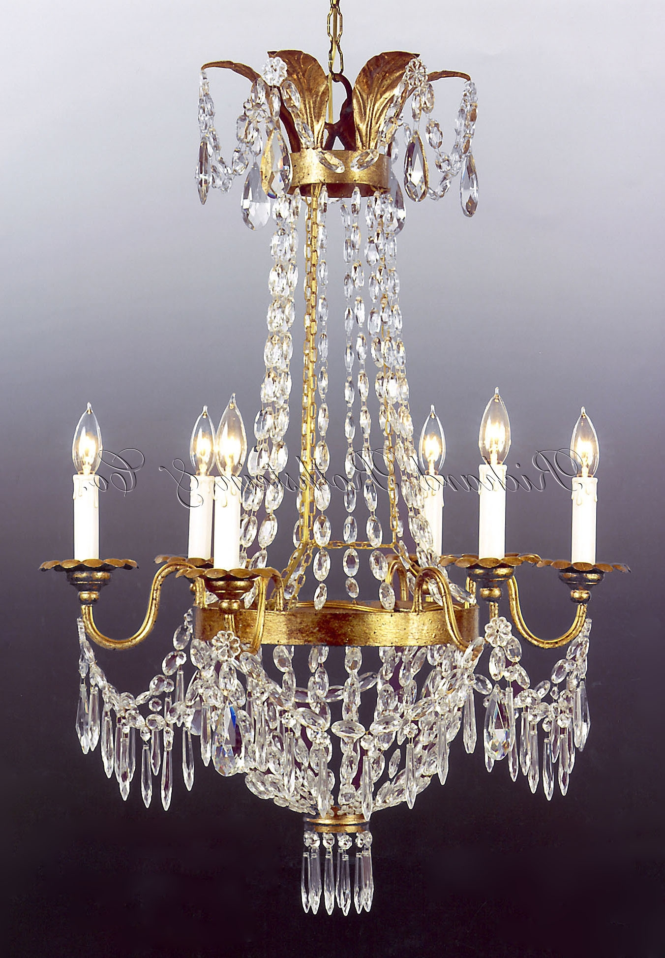 Fashionable French Crystal Chandeliers Within Empire Crystal Chandeliers Synergy Chandelierglow Lighting (View 6 of 20)