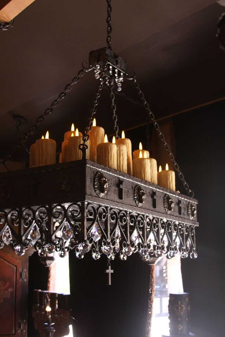 Fashionable Hanging Candle Chandeliers Regarding Lighting: Wonderful Candle Chandelier Non Electric For Modern Lights (View 6 of 20)
