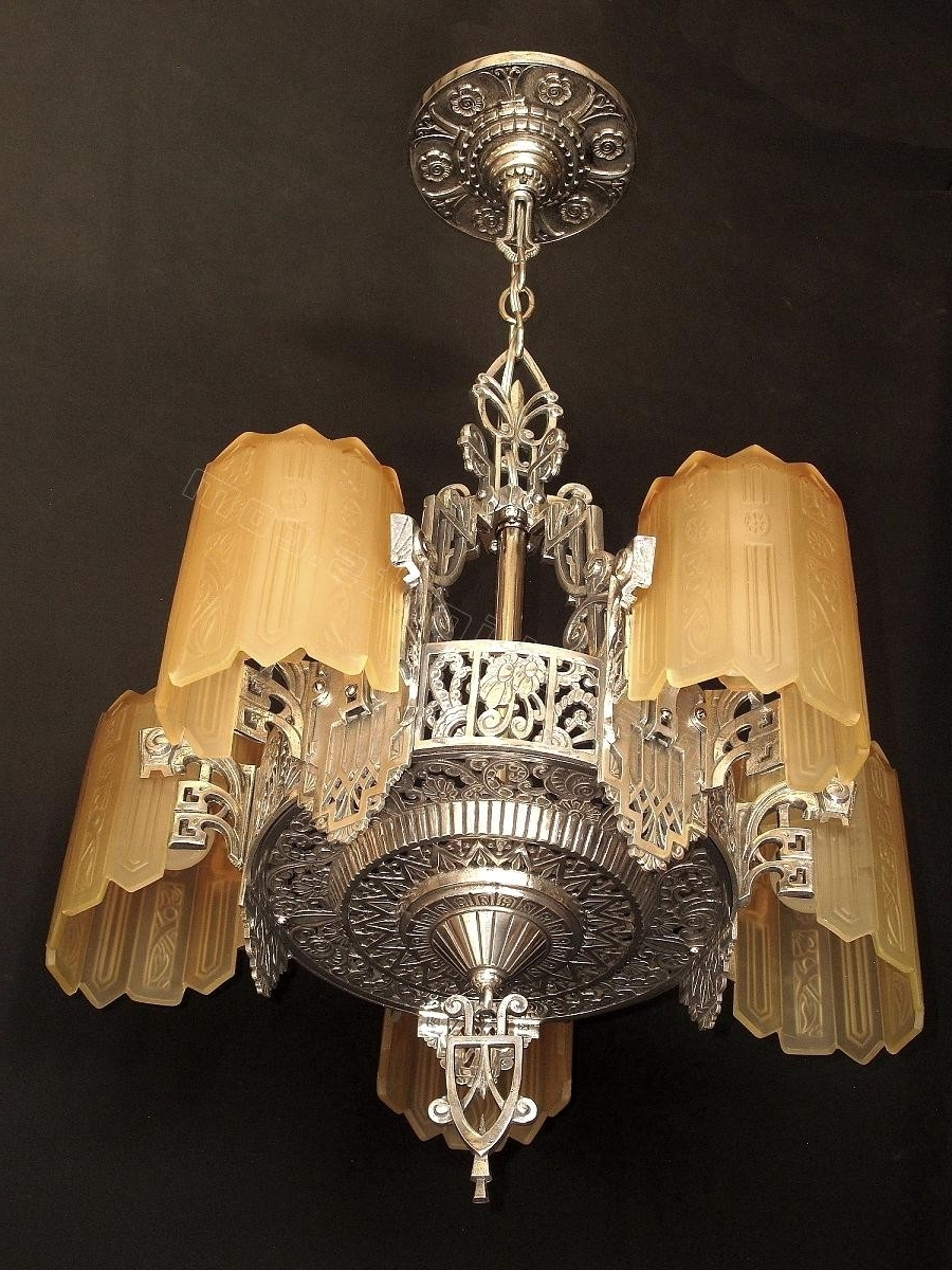 Fashionable Large Art Deco Chandelier For Deco Lamp : Tiffany Wall Lights Art Deco Style Multi Light Pendant (View 8 of 20)