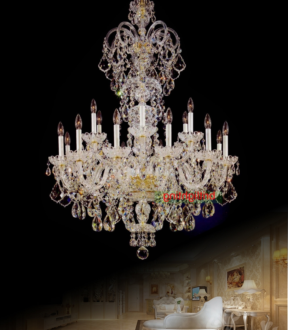 Fashionable Large Crystal Chandelier Entrance Hall Lighting Luxury Crystal Light Regarding Large Crystal Chandeliers (View 5 of 20)