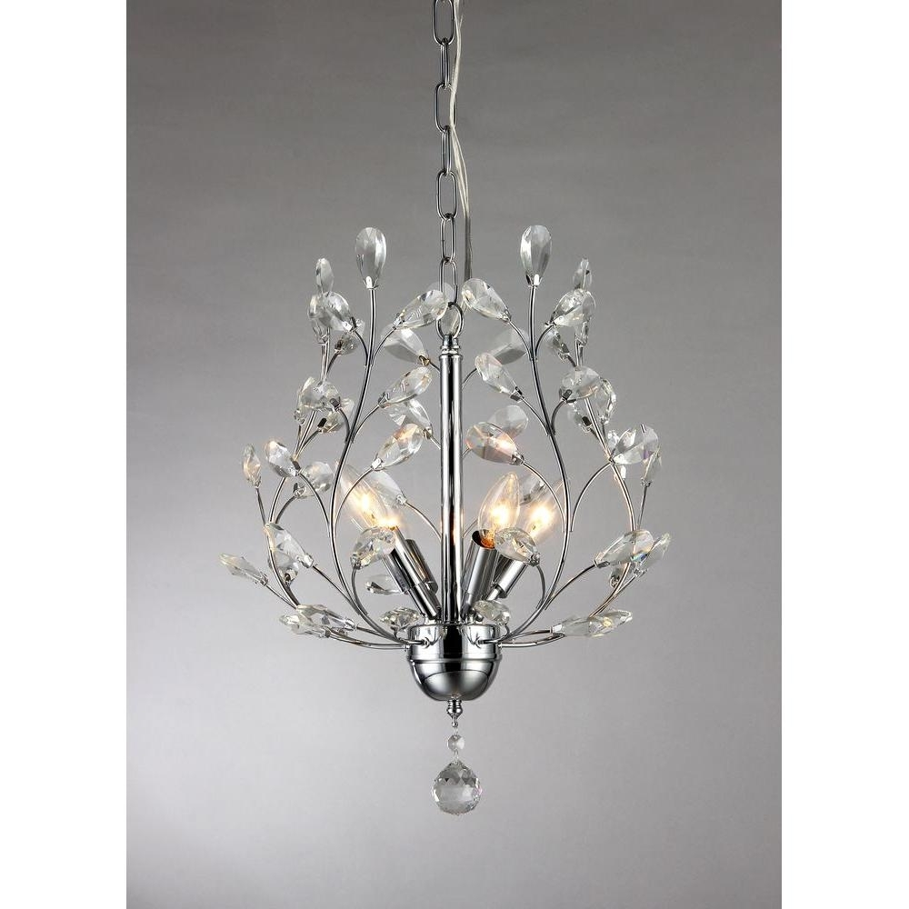 Fashionable Marie 4 Light Chrome Indoor Crystal Chandelier With Shade Rl8026 Within 4 Light Chrome Crystal Chandeliers (View 11 of 20)