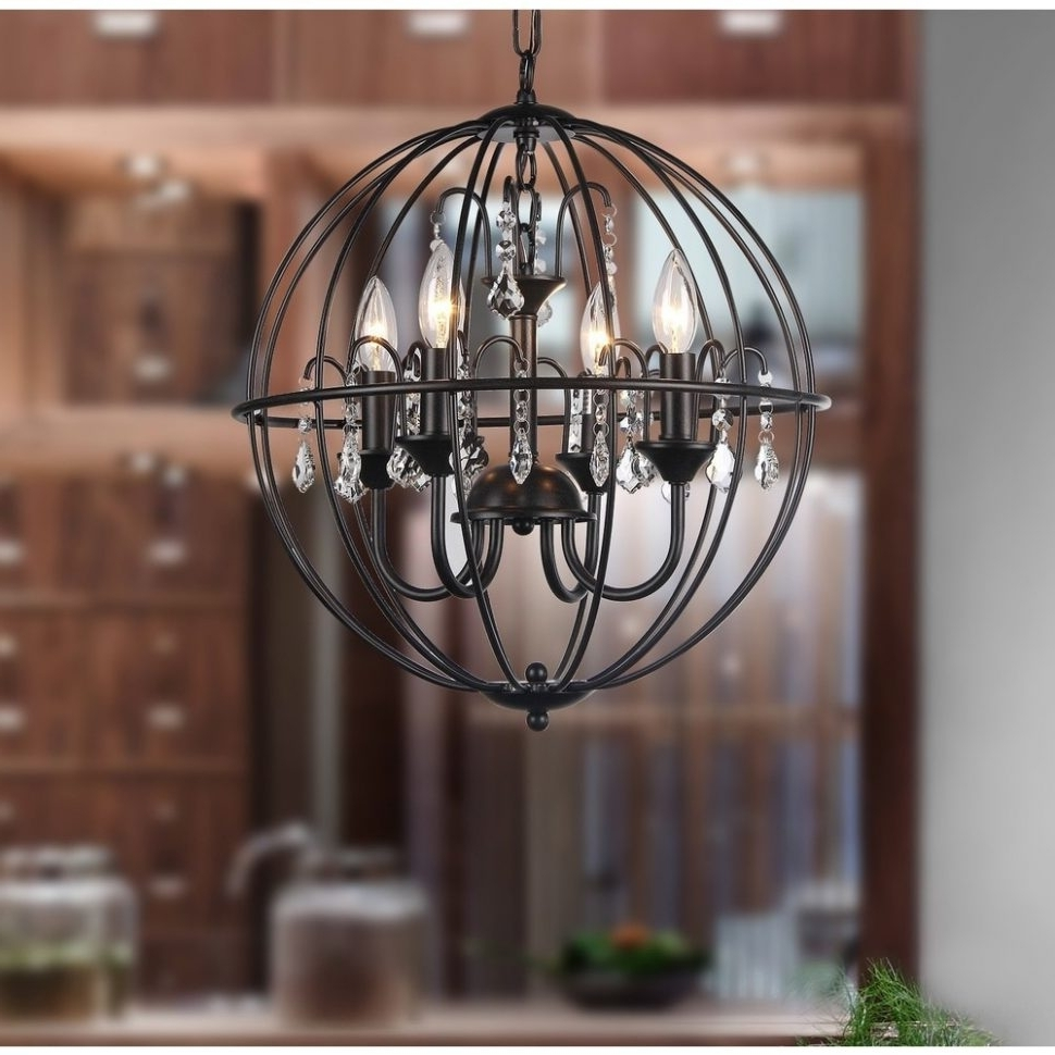 Fashionable Metal Ball Chandeliers Inside Chandeliers : Wood Ball Chandelier Vine Lighting Spherical Metal (View 9 of 20)