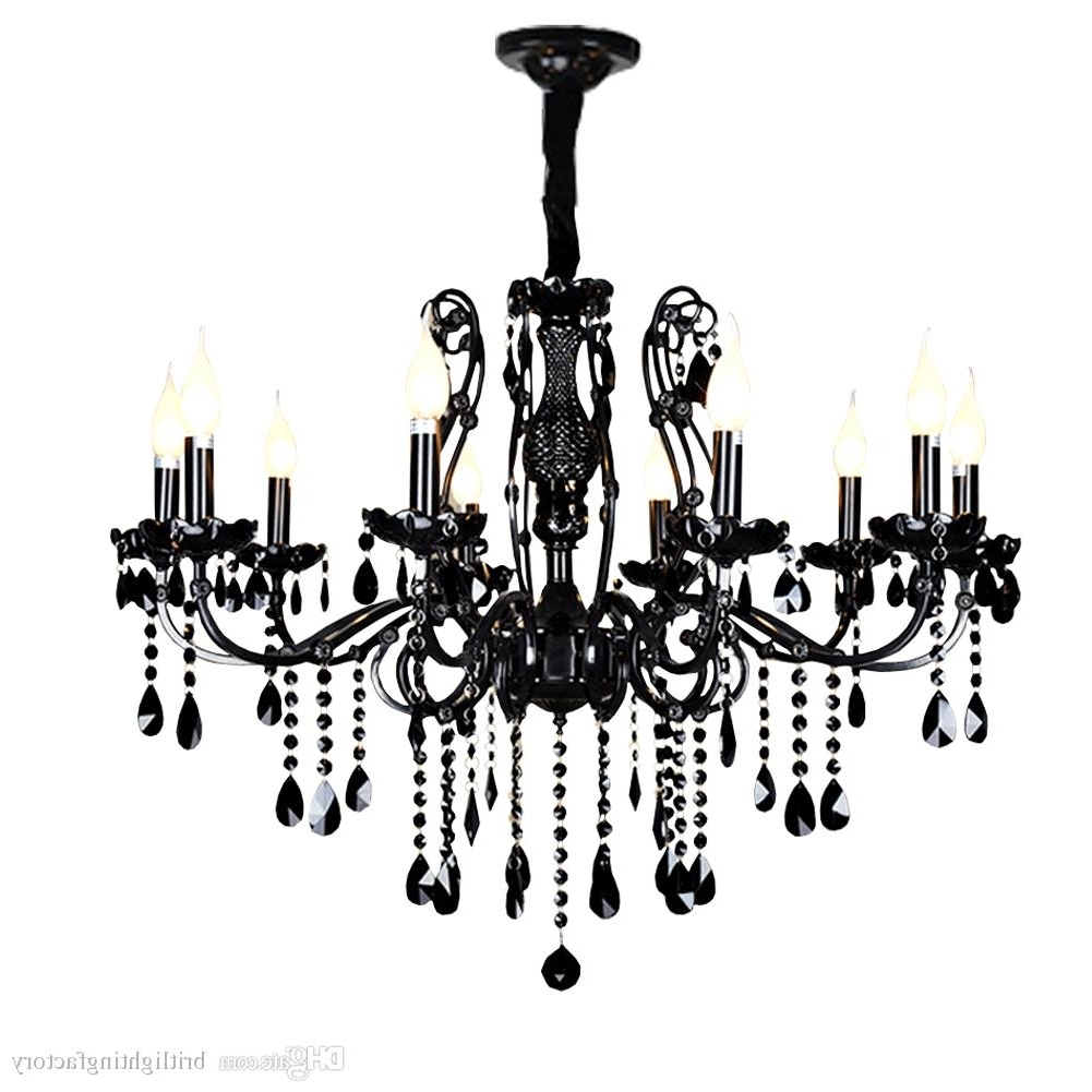 Fashionable Modern Black Chandelier In China Chandelier Light Modern Ceiling Chandeliers Modern Black Glass (View 8 of 20)