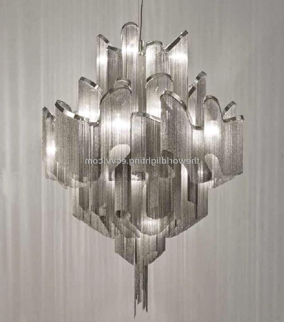 Fashionable Modern Chrome Chandelier With Regard To Lighting : Modern Cluster Chandelier Ceiling Lights Lantern (View 10 of 20)