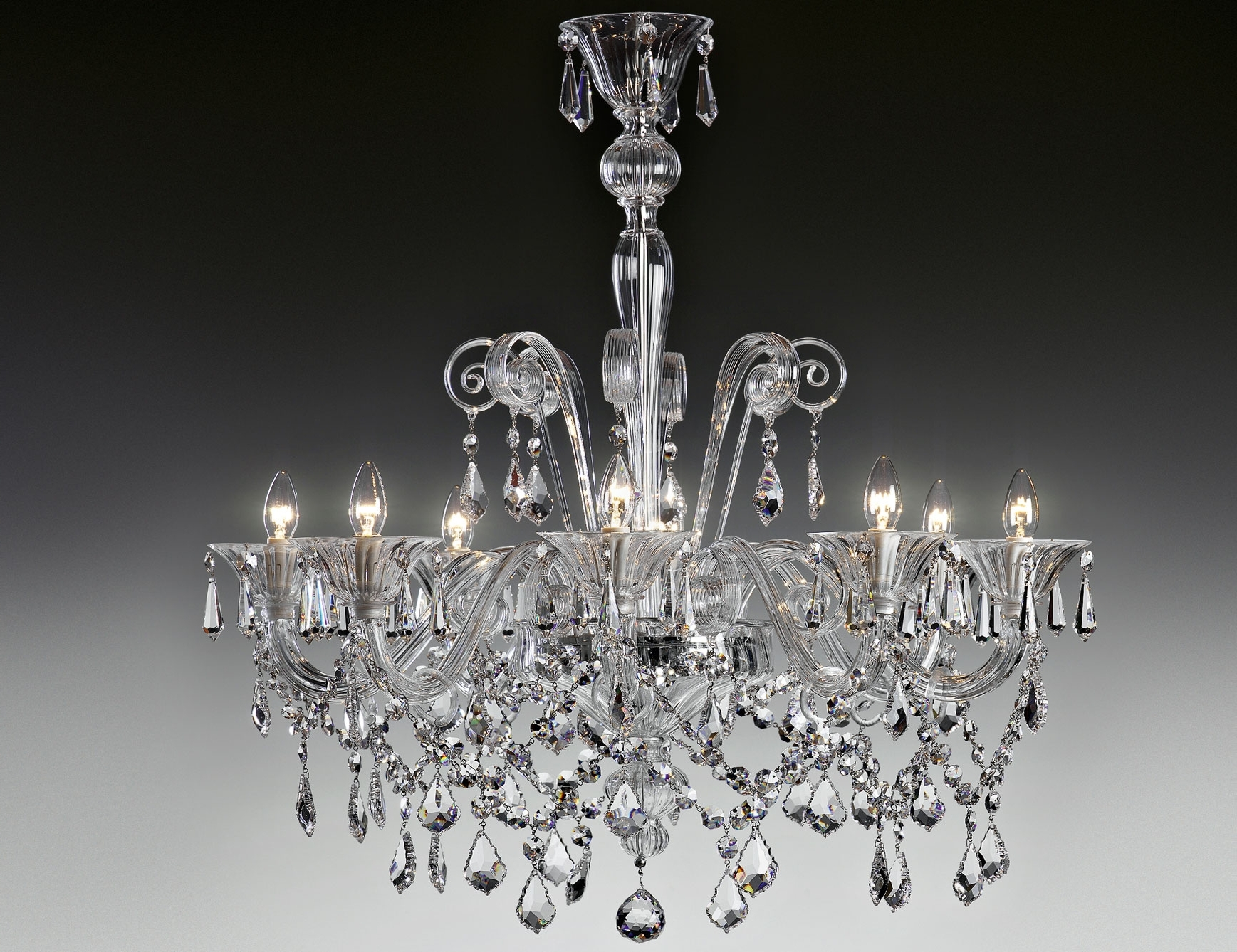 Fashionable Nella Vetrina Lulu 9016 8 Modern Italian Chandelier Clear Murano Glass Within Modern Italian Chandeliers (View 5 of 20)