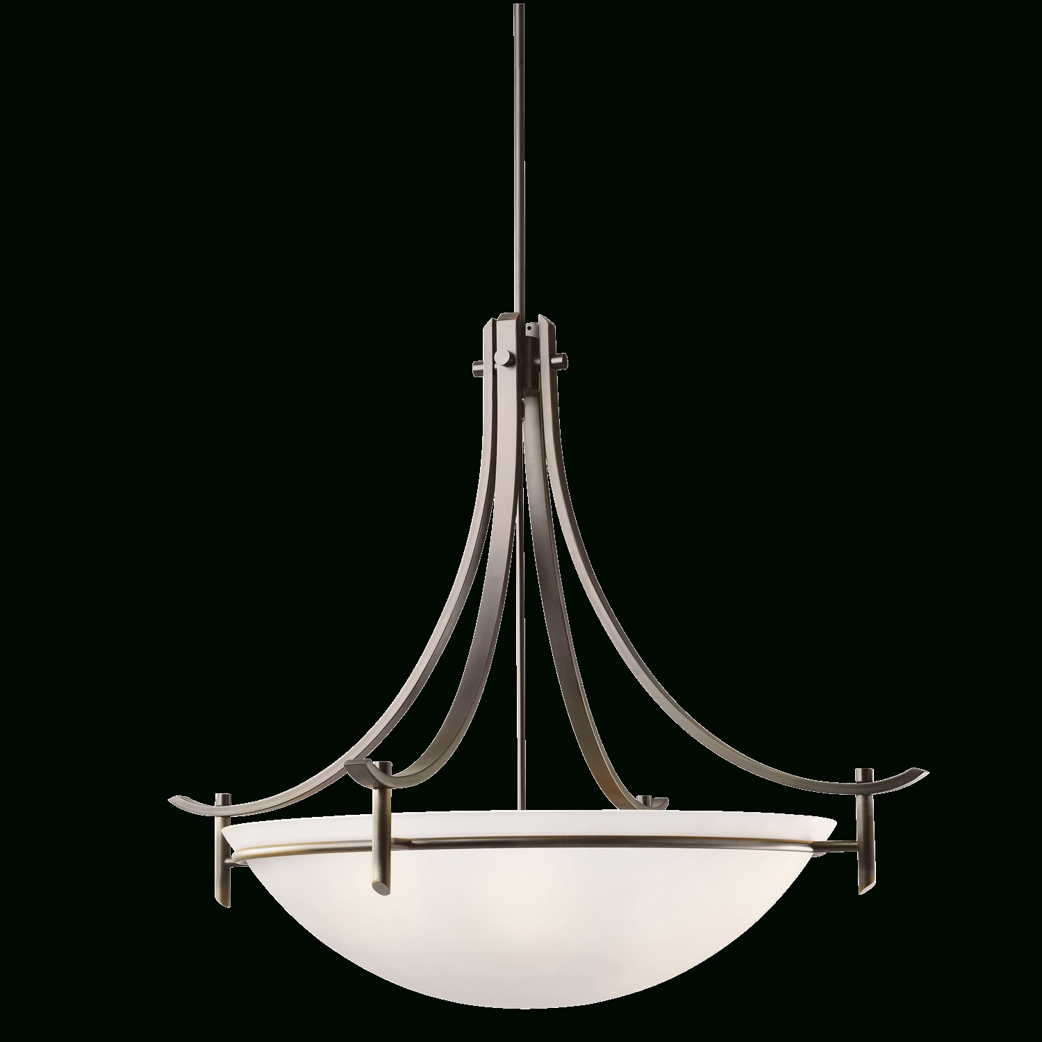 Fashionable Olympia Collection 5 Light Inverted Pendant In Antique Pewter For Inverted Pendant Chandeliers (View 6 of 20)