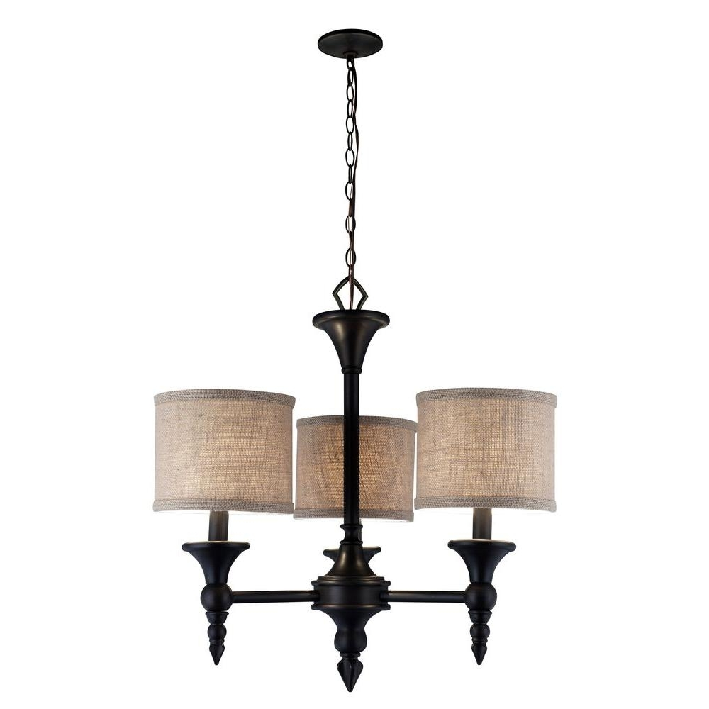 Fashionable World Imports Jaxson Collection 3 Light Oil Rubbed Bronze Chandelier Inside Bronze Modern Chandelier (View 6 of 20)