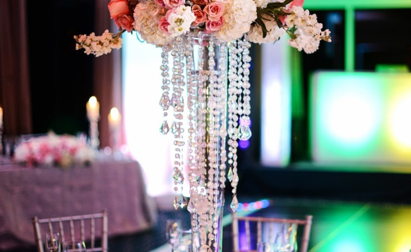 Faux Crystal Chandelier Centerpieces Inside Famous Chandelier : Stunning Faux Crystal Chandelier Wedding Bead Strands (View 8 of 20)