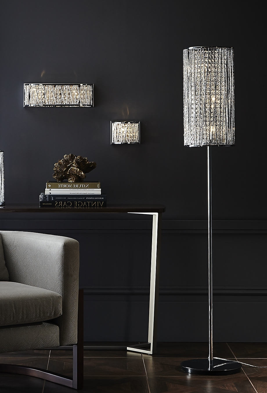 Faux Crystal Chandelier Table Lamps For Current Modern Crystal Chandelier Floor Lamp Black, Chandelier Floor Lamp (View 4 of 20)
