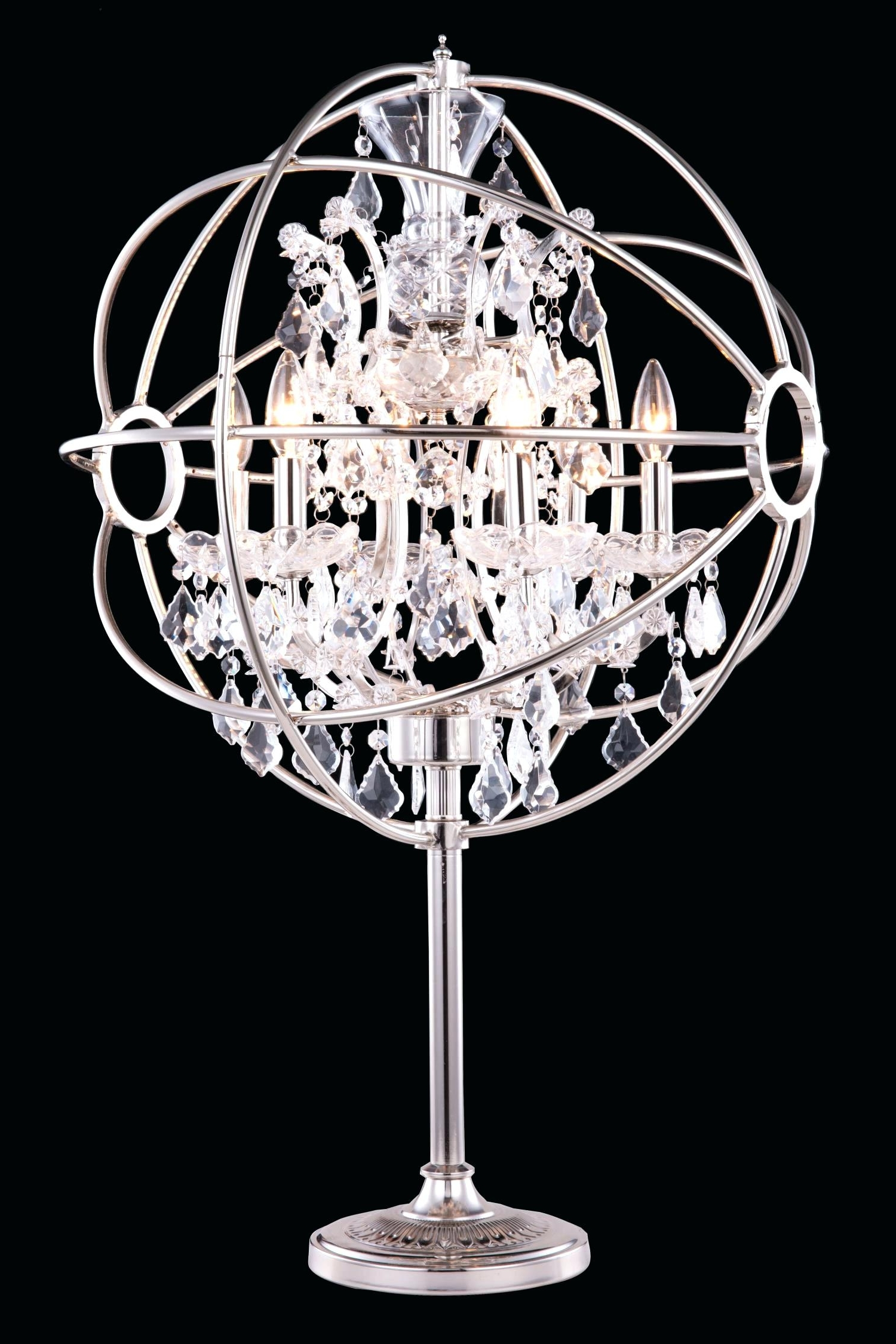 Faux Crystal Chandelier Table Lamps Intended For Preferred Black Crystal Chandelier Table Lamps – Homeinteriorideas (View 12 of 20)
